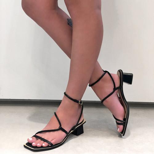Sandália Diana Tiras Preta