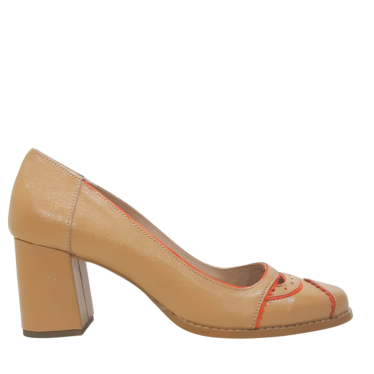 Sapato Em Couro Caramelo